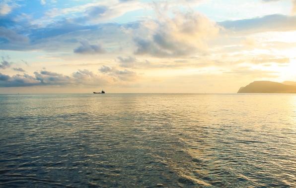 Picture Sea, the black sea, Novorossiysk, Wide beam
