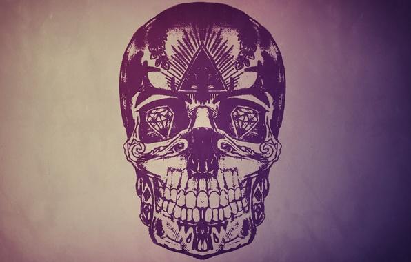 Picture eyes, style, stones, background, figure, skull, sake