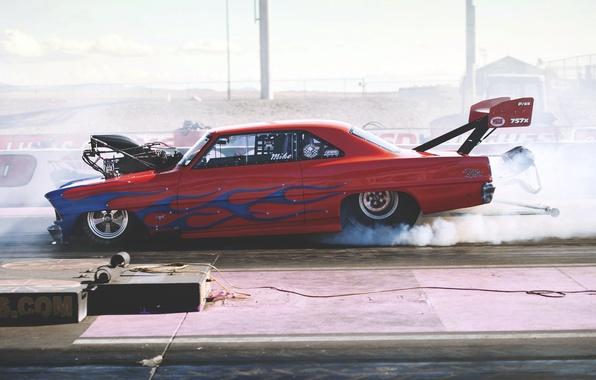 Picture race, smoke, Chevrolet, chevrolet, smoke, drag, race