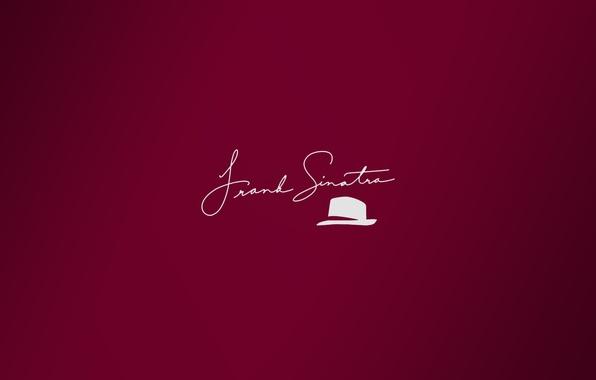 Wallpaper hat, minimalism, autograph, Sinatra, signature ...