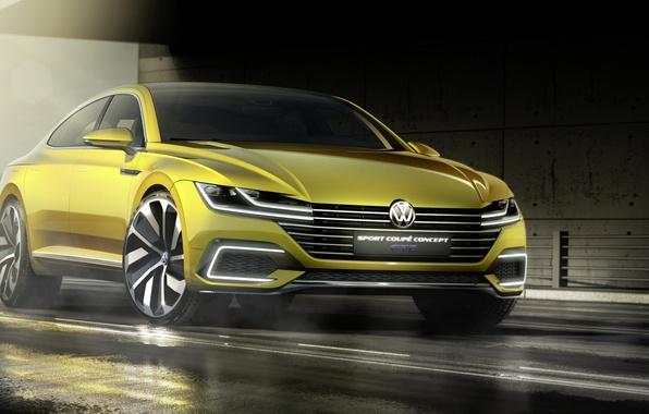 Picture Concept, sport, coupe, Volkswagen, Coupe, Volkswagen, Sport, GTE, 2015