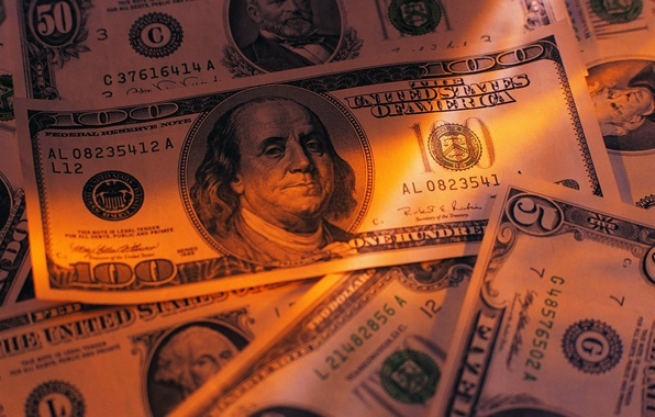 Picture macro, money, dollars, paper, banknotes