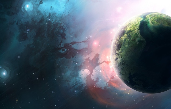 Picture Stars, Planet, Planets, Stars, Space, Earth, Blue, Nebula