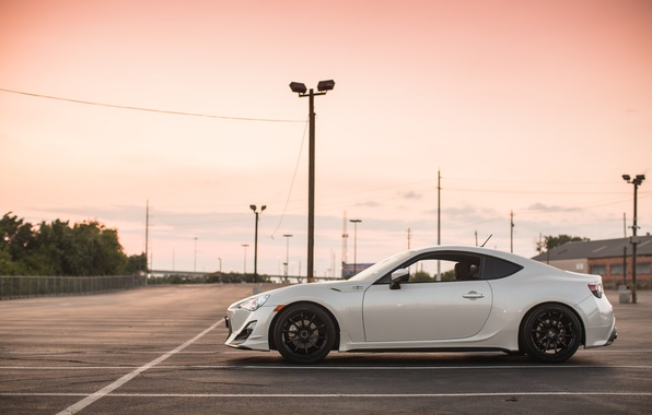 Picture the sky, clouds, nature, Subaru, profile, white, white, Subaru, brz