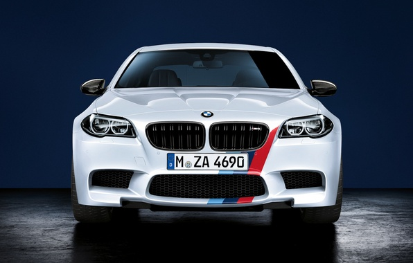 Picture BMW, white, front, F10, Performance, 5 Series