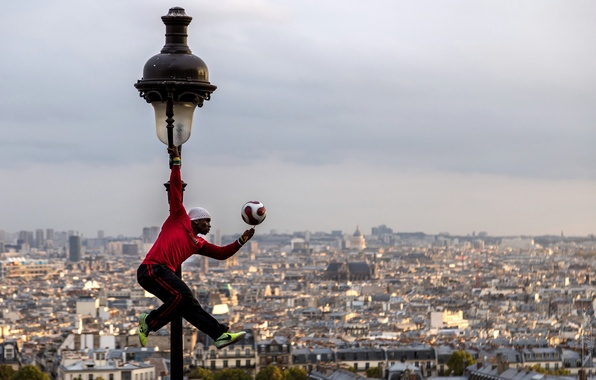 Picture France, Paris, the ball, panorama, lantern, Paris, player, France, Montmartre, Montmartre, Iya Traore, Iya Traore, …