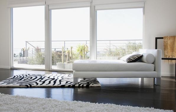 Picture white, design, carpet, color, bed, interior, window, Zebra, pillow