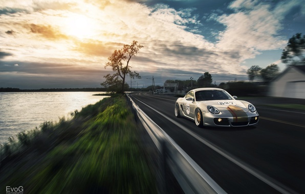 Picture car, in motion, tuning, Porsche Cayman, evog