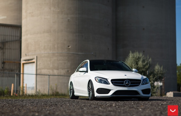 Picture machine, auto, Mercedes, Mercedes, wheels, drives, auto, Vossen Wheels, C400