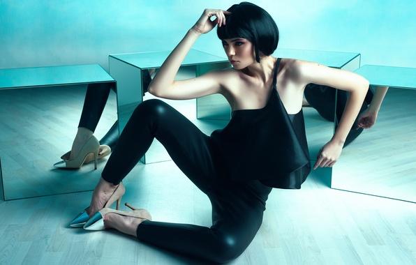 Picture reflection, makeup, Studio, Daniel Ilinca, Aisen