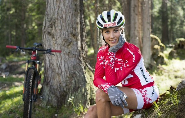 Picture girl, bike, sexy, pose, figure, Girl, bicycle, woman, posing, Beauty, Bike, mtb, Sport, Love on …
