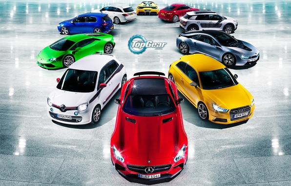 Picture Audi, Mercedes-Benz, Lamborghini, BMW, Volkswagen, Renault, Top Gear, Ferrari, Citroen, Red, Blue, Green, White, Yellow, …