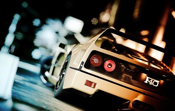 Picture ferrari, car, f40