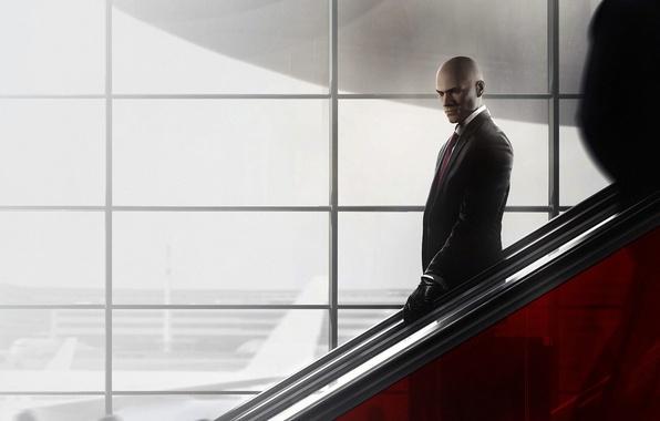 Picture look, the descent, Windows, bald, tie, Hitman, agent, jacket, killer, killer, Square Enix, mercenary, IO …