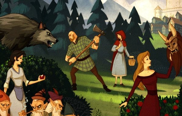 Photo Wallpaper Wolf Snow White Cleaver The Among Us