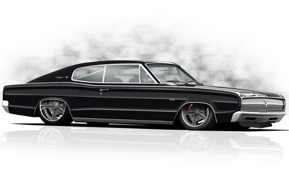 Photo wallpaper tuning, figure, Dodge, muscle car, Dodge Charger