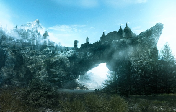 Picture the city, rock, the game, year, Skyrim, Skyrim, TES, solitude