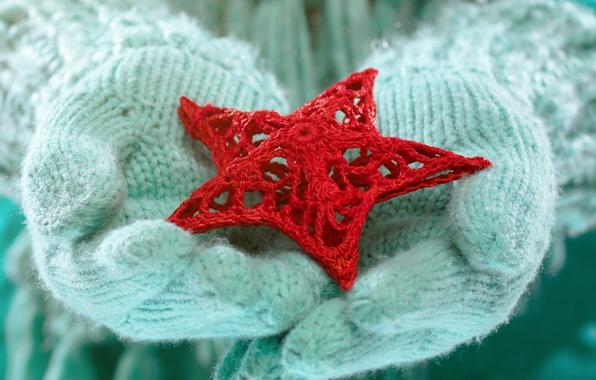 Picture winter, love, star, hands, love, star, winter, mittens, snow, hands