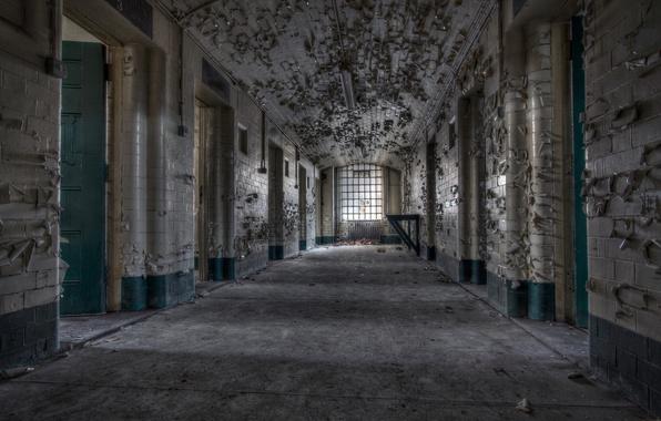 Picture interior, corridor, prison
