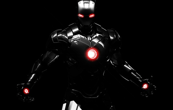 Picture dark, robot, background, marvel, comics, iron man, dark iron man