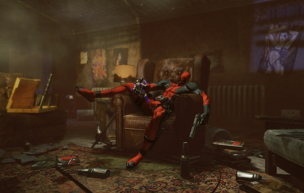 Picture game, mercenary, Deadpool, Deadpool, Wolverine, Domino