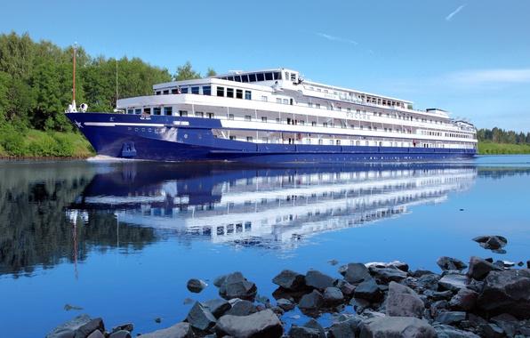 Picture nature, stay, Russia, tourism, Volga, ship