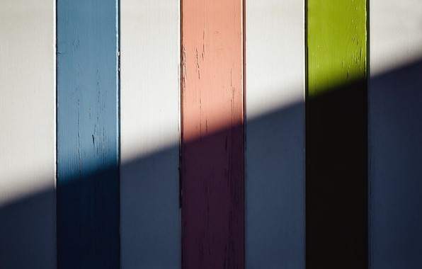 Picture light, the fence, color, shadow