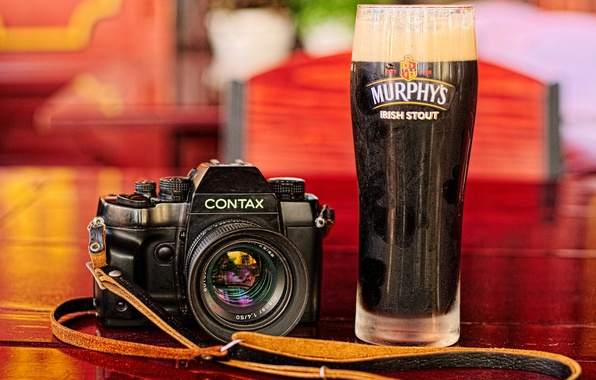 Picture background, glass, blur, the camera, Contax