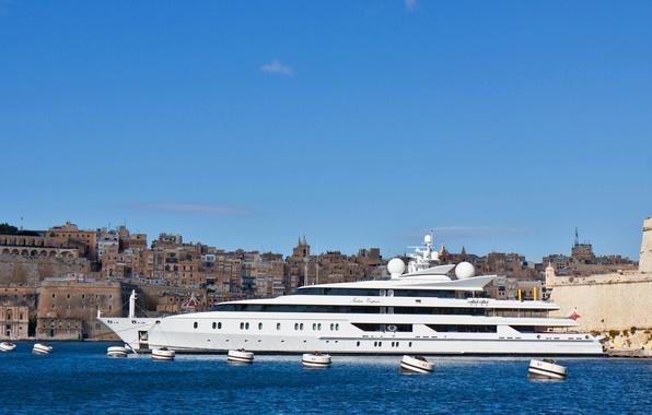 Picture yacht, Malta, Malta, Valletta, Valletta