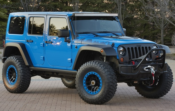Picture the concept, Jeep, the front, Wrangler, Ringler, Jeep, Maximum Performance Concept