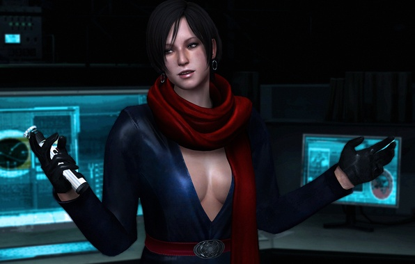 Picture chest, girl, boobs, fanart, Resident Evil 6, Biohazard 6, Carla Radames