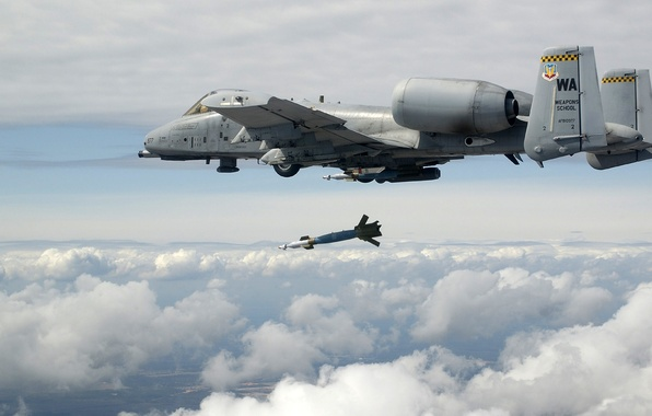 Picture The SKY, CLOUDS, WEAPONS, The PLANE, ROCKET