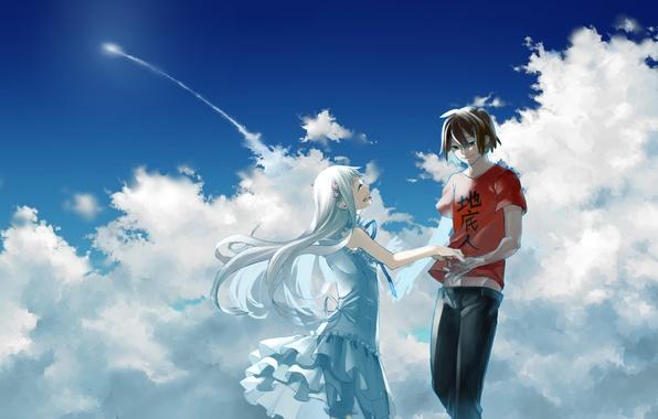 Photo Wallpaper Anohana Art Guy Romance Anime Pair Girl