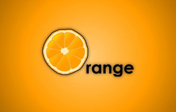 Picture background, mac, Orange