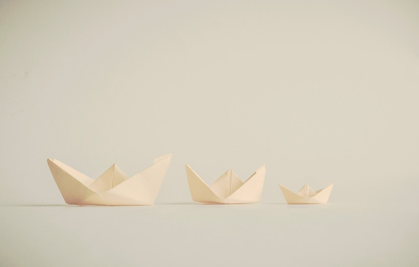 Picture paper, origami, boats