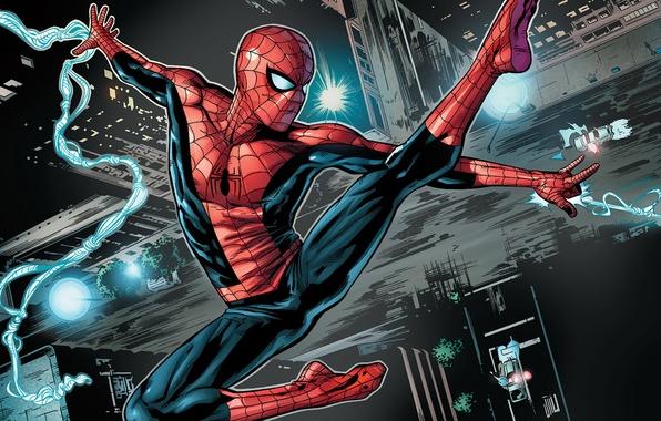 Picture spider-man, flight, spider-man