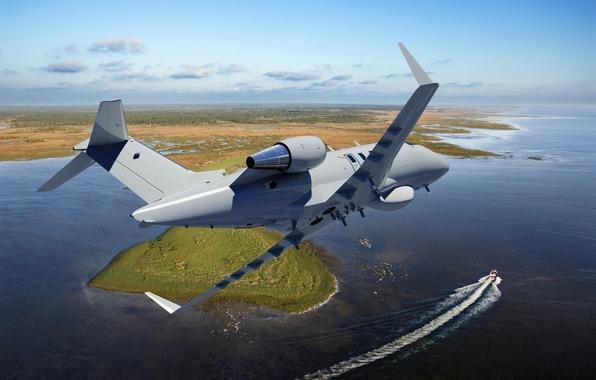 Picture landscape, Bombardier, business jet, Challenger 600