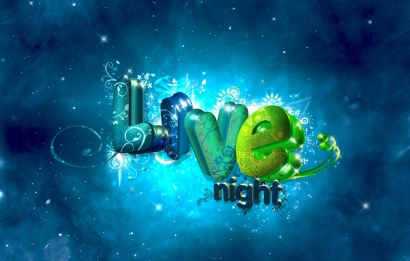 Picture letters, background, the inscription, live night