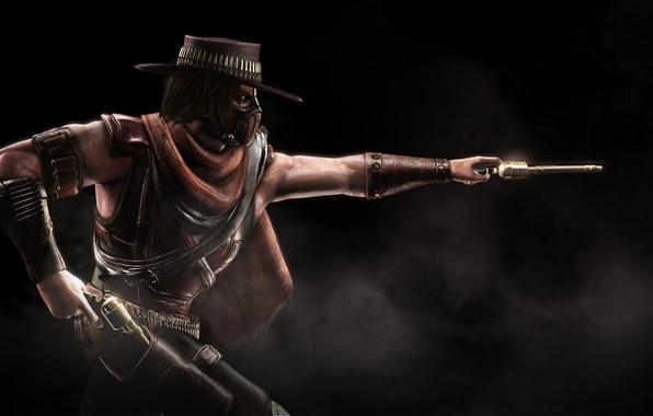 Picture gun, cowboy, character, Mortal Kombat X, Mortal Kombat 10, Erron Black, Erron Black