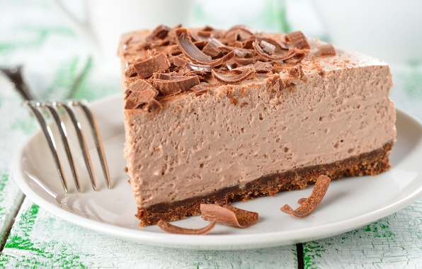 Picture food, plate, pie, cake, plug, dessert, cakes, chocolate, chips, souffle