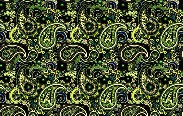 Picture green, pattern, ornament, Paisley, Indian cucumbers