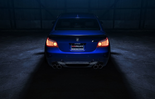 Picture BMW, Car, Eyes, Angel, Sport, View, E60, Rear