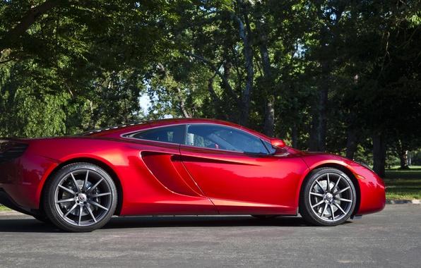 Picture red, McLaren, profile, red, MP4-12C, McLaren