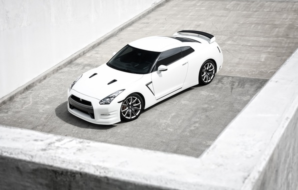 Picture white, GTR, Nissan, white, Nissan