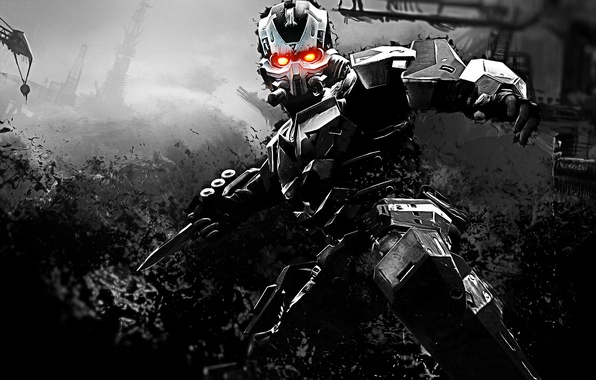 Picture weapons, fiction, robot, cyborg, Killzone 3, video game
