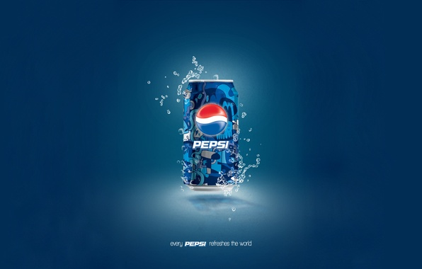 Picture drops, blue, background, Bank, pepsi
