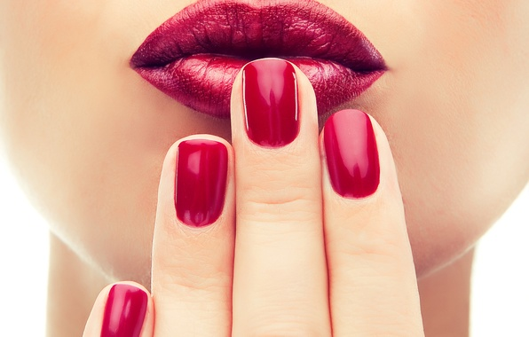 Picture hands, nail, nails, fingers, mouth, makeup