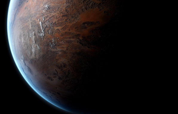 Picture surface, light, planet, shadow, the atmosphere, space, relief