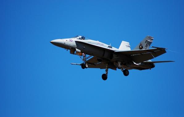 "Picture the sky, the plane, carrier-based fighter-bomber, US NAVY, ""Hornet"", F/A-18 «Hornet»"