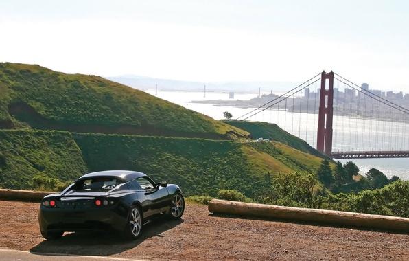 Picture bridge, nature, Tesla
